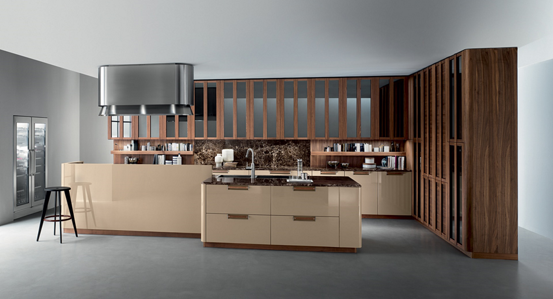 Noisette Modular Kitchen With Corner Layout